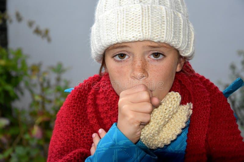Krankes Mädchen lizenzfreies stockbild
