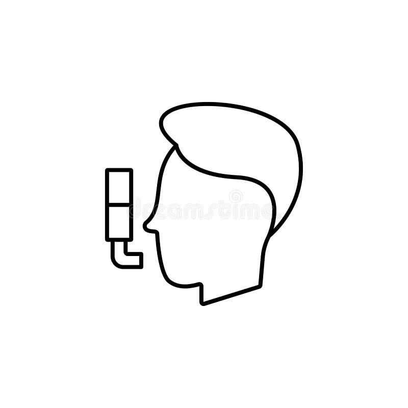 Krankheiten, Asthma, geduldiger Vektor Muskelkater, Kälte und Bronchitis, Pneumonie und Fieber, medizinische Illustration der Ges stock abbildung