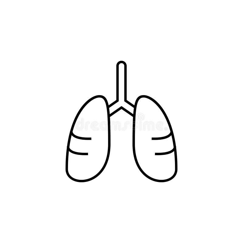 Krankheiten, Lungen Muskelkater, Kälte und Bronchitis, Pneumonie und Fieber, medizinische Illustration der Gesundheit - Vektor lizenzfreie abbildung