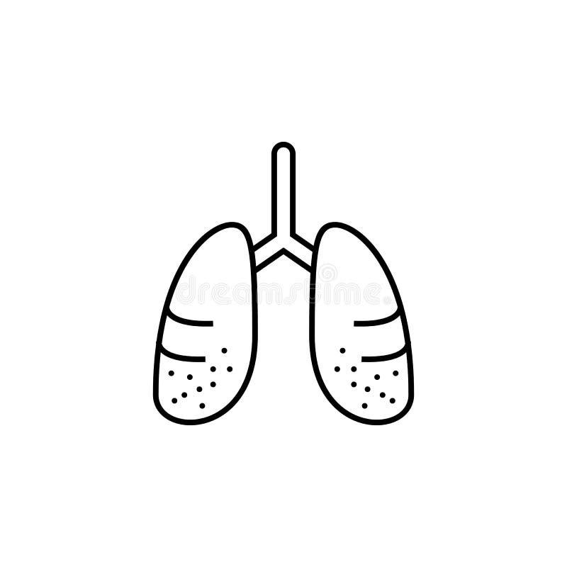 Krankheiten, Lungen Muskelkater, Kälte und Bronchitis, Pneumonie und Fieber, medizinische Illustration der Gesundheit - Vektor stock abbildung