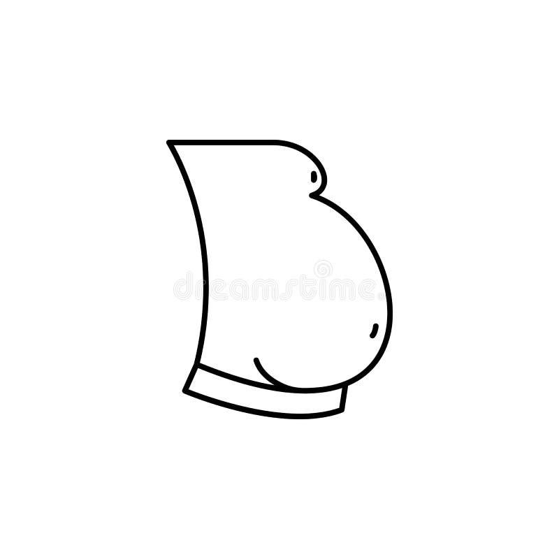 Krankheiten, Magen, fetthaltig Muskelkater, Kälte und Bronchitis, Pneumonie und Fieber, medizinische Illustration der Gesundheit  lizenzfreie abbildung