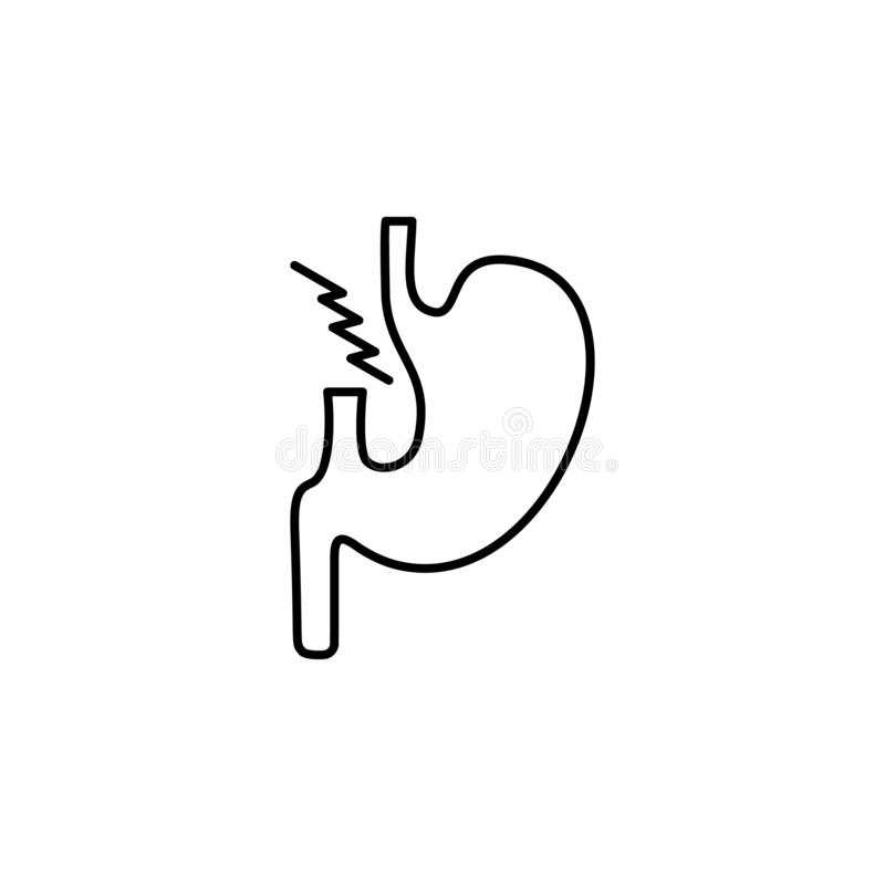 Krankheiten, Magen Muskelkater, Kälte und Bronchitis, Pneumonie und Fieber, medizinische Illustration der Gesundheit - Vektor lizenzfreie abbildung