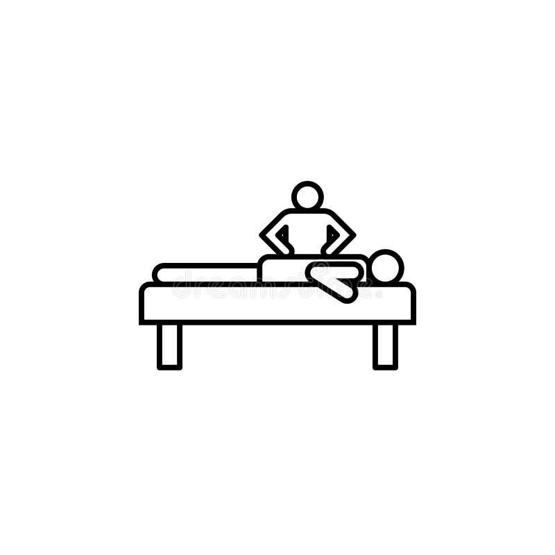 Krankheiten, Massage, Therapie Muskelkater, Kälte und Bronchitis, Pneumonie und Fieber, medizinische Illustration der Gesundheit  lizenzfreie abbildung