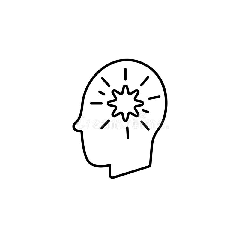 Krankheiten, Patient, Gehirn, Gedankenvektor Muskelkater, Kälte und Bronchitis, Pneumonie und Fieber, medizinische Illustration d stock abbildung