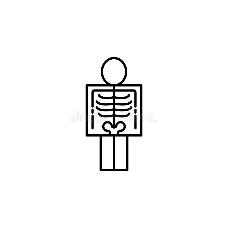 Krankheiten, Patient, Röntgen Muskelkater, Kälte und Bronchitis, Pneumonie und Fieber, medizinische Illustration der Gesundheit - lizenzfreie abbildung