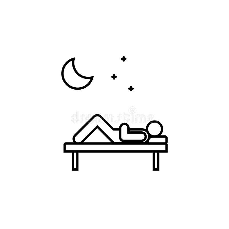Krankheiten, Patient, Schlafvektor Muskelkater, Kälte und Bronchitis, Pneumonie und Fieber, medizinische Illustration der Gesundh vektor abbildung