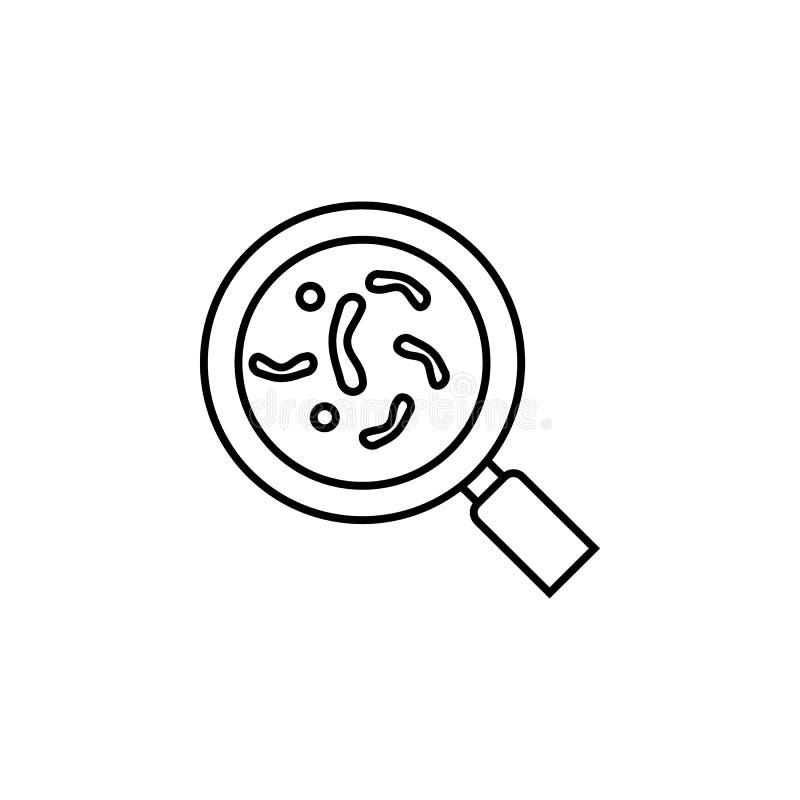 Krankheiten, Virus, Bakterien, Suchvektor Muskelkater, Kälte und Bronchitis, Pneumonie und Fieber, medizinische Illustration der  stock abbildung