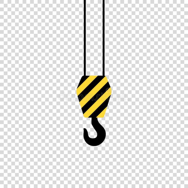 krankrok på svart yeloow för tom bakgrund vektor illustrationer