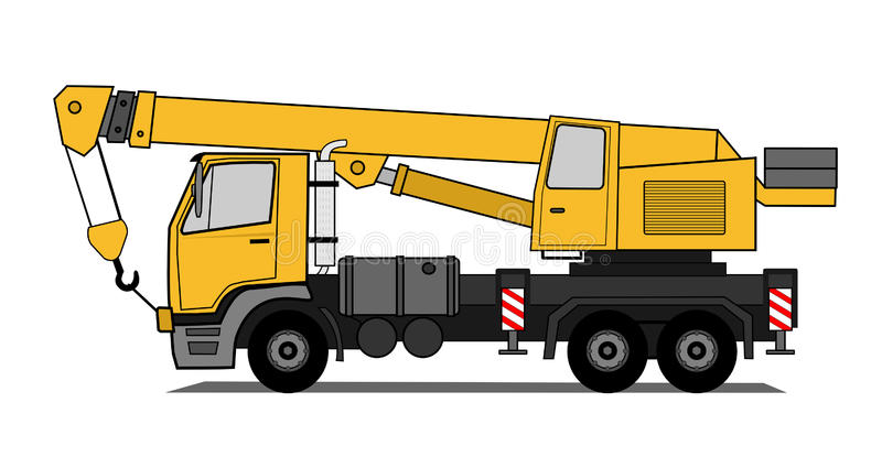 kranlastbil stock illustrationer