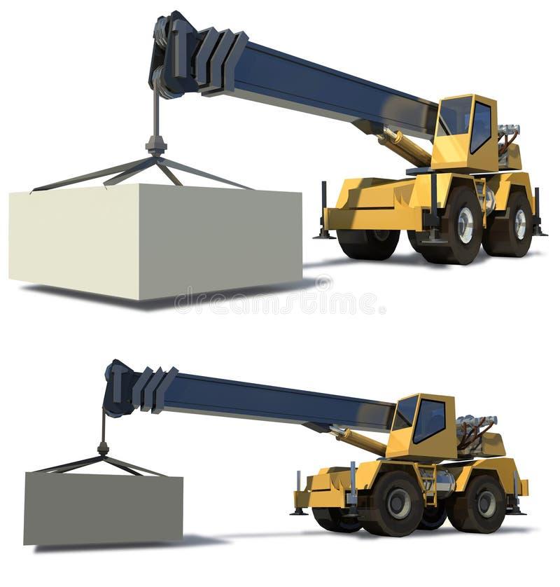 kranmobil stock illustrationer