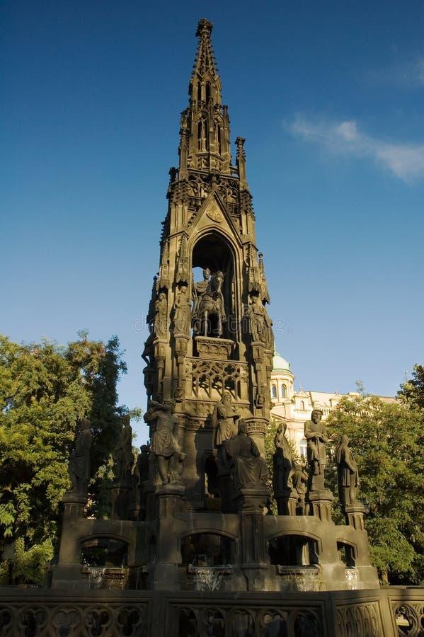 Kranner's fountain - Prague stock photos