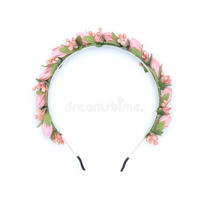 Krans med isolerade blommor royaltyfria foton