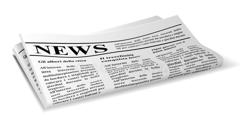 Krant stock illustratie