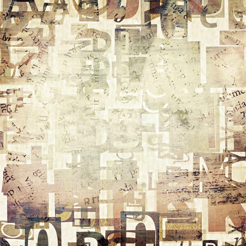 Krant, de achtergrond van tijdschrift grunge brieven stock foto