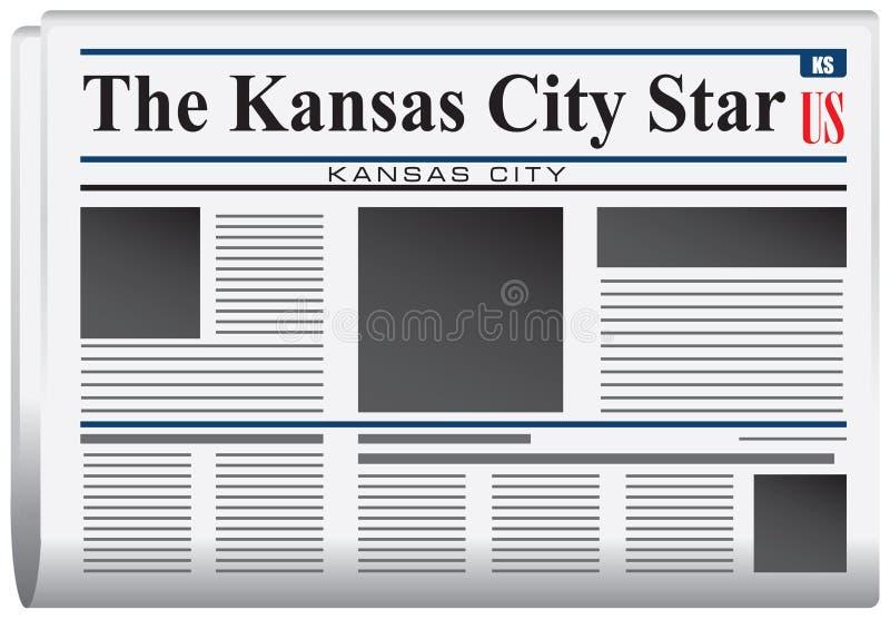 Krant de Ster van Kansas City vector illustratie
