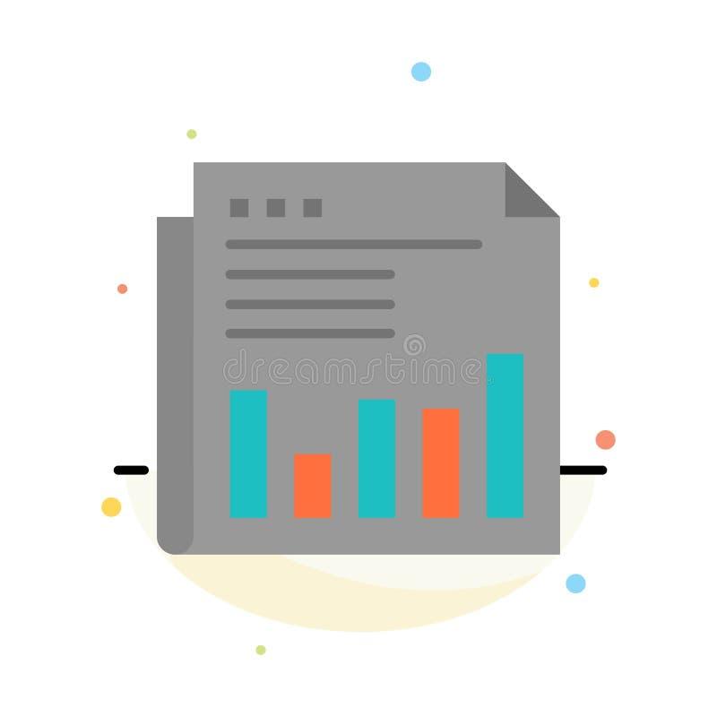 Krant, Financiële Zaken, Markt, Nieuws, Document, het Pictogrammalplaatje van de Tijden Abstract Vlak Kleur vector illustratie