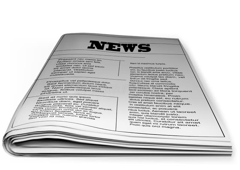 Krant op wit stock foto's