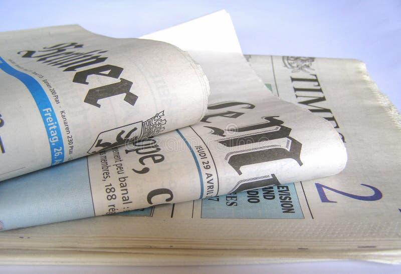 Kranten royalty-vrije stock foto's