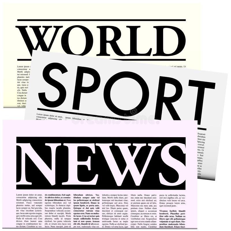 Kranten met het Exemplaar van Lorem Ipsum stock illustratie