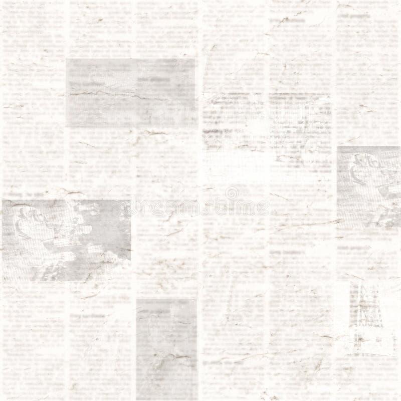 Kranten naadloos patroon met oude uitstekende onleesbare document textuurachtergrond royalty-vrije stock foto
