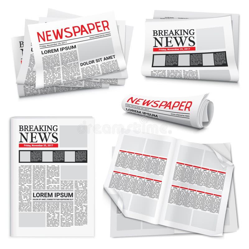 Kranten Realistische Reeks royalty-vrije illustratie