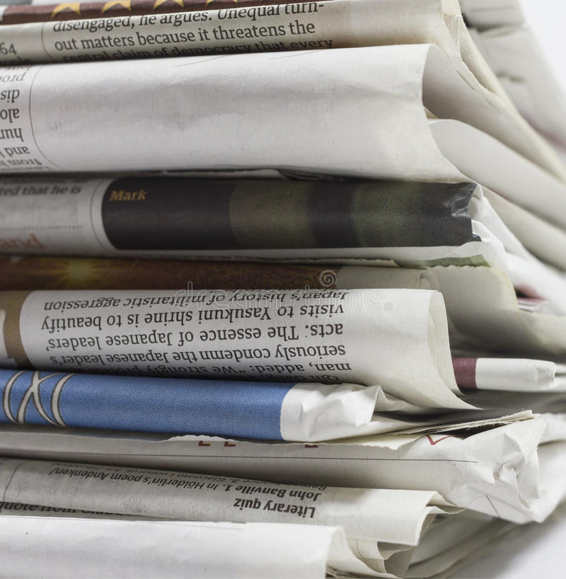 Kranten - Voorraadbeeld royalty-vrije stock afbeelding