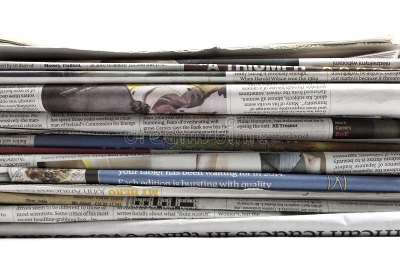 Kranten - Voorraadbeeld stock afbeeldingen