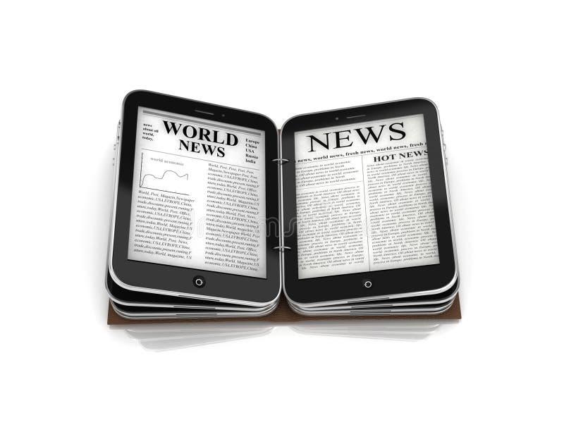 Krantenboek van tabletpc royalty-vrije stock afbeelding