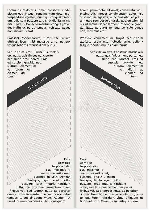 Krantenpagina met lege ruimte stock illustratie