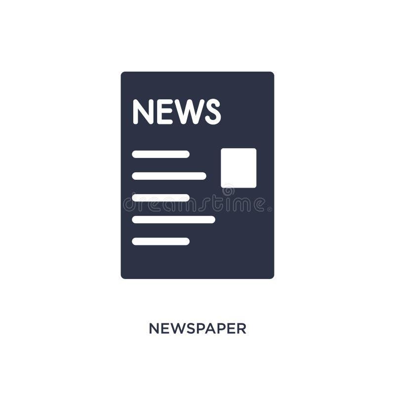 Krantenpictogram op witte achtergrond Eenvoudige elementenillustratie van strategieconcept royalty-vrije illustratie
