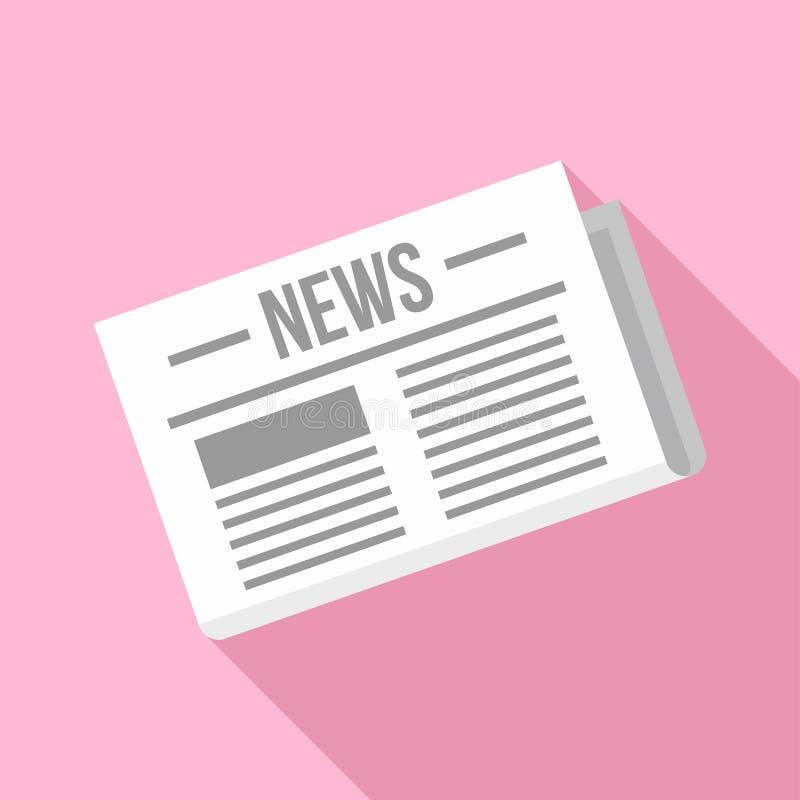 Krantenpictogram, vlakke stijl vector illustratie