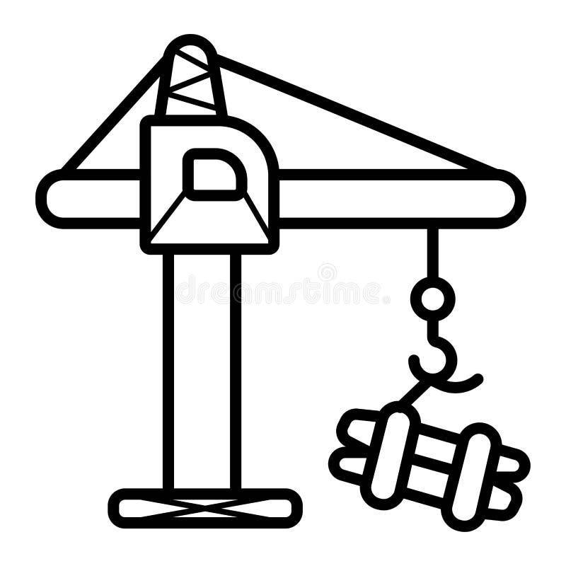 Kranvektorsymbol stock illustrationer