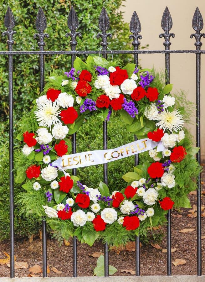 Kranz DC-Büro tötete Blair House Building Washington DC stockbilder