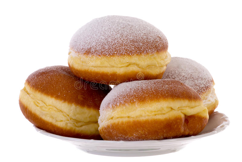 Krapfen Pfannkuchen Bismarck Berlińczyk Donuts obrazy royalty free