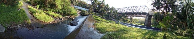 krasak Flussansicht über den Morgen stockbilder