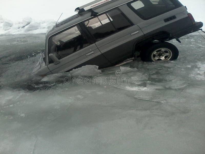 Krasch för Irkutsk regionbil arkivbilder