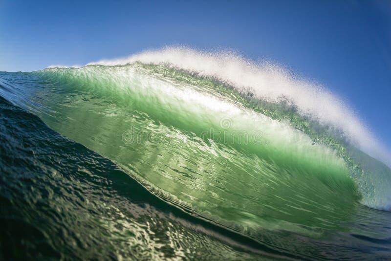 Krascha för vägg för våghavsvatten royaltyfri fotografi