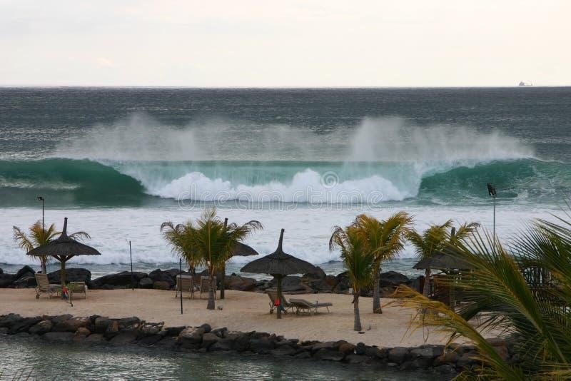 krascha platswaves för strand royaltyfri bild