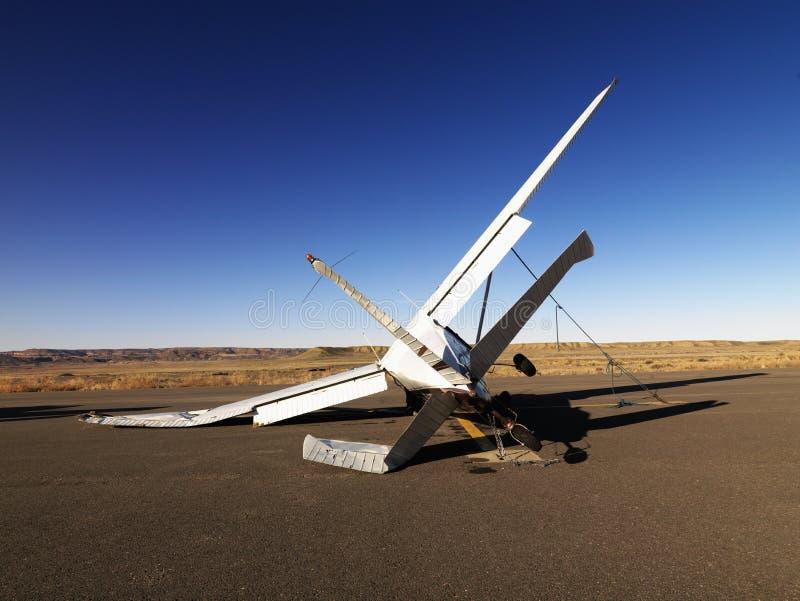 kraschat flygplan arkivbilder