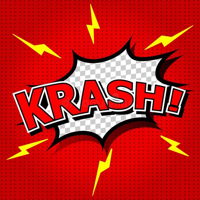 ¡Krash! ilustración del vector