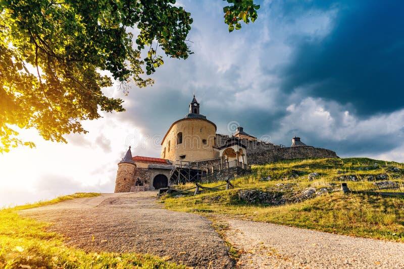 Krasna Horka城堡,斯洛伐克 库存照片