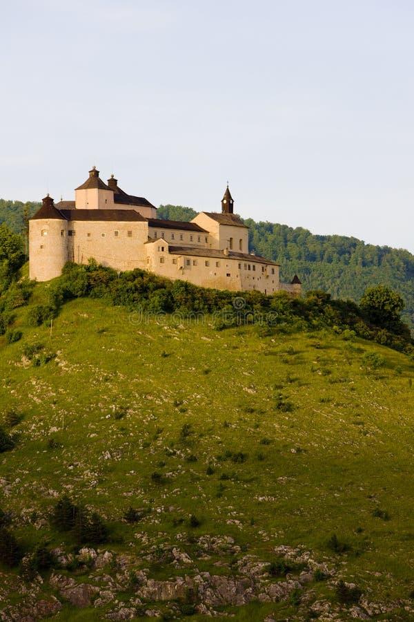 Krasna Horka城堡,斯洛伐克 免版税图库摄影
