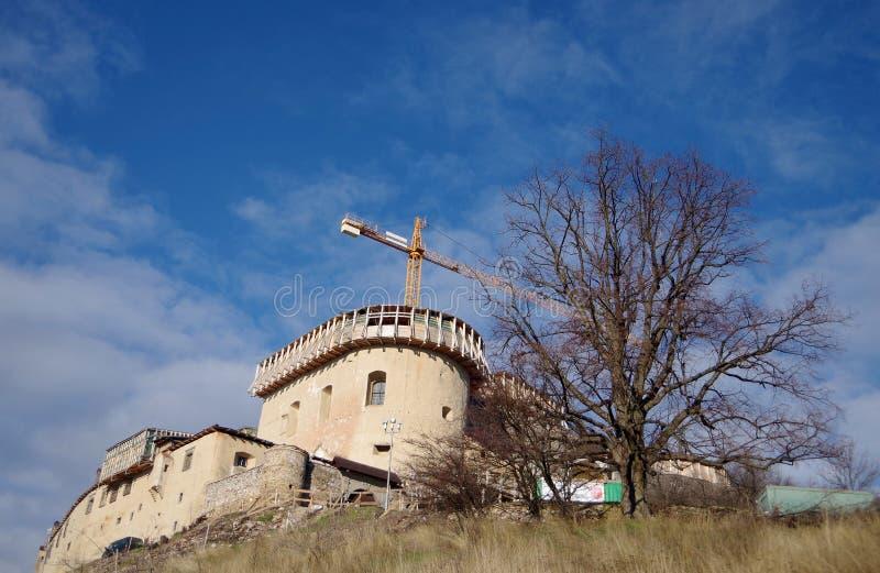 Krasna Horka, Roznava,斯洛伐克城堡  免版税库存图片
