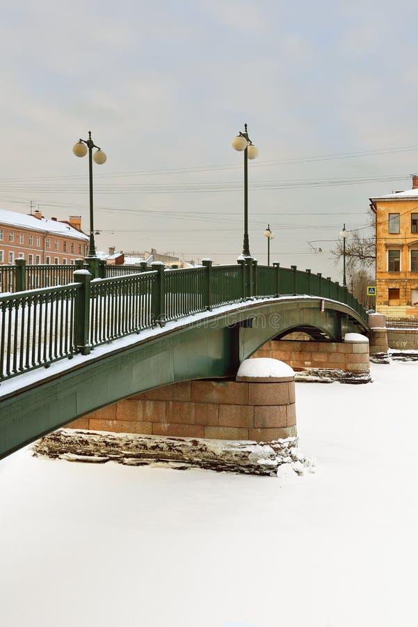 Krasnoarmeiskybrug over Fontanka royalty-vrije stock fotografie