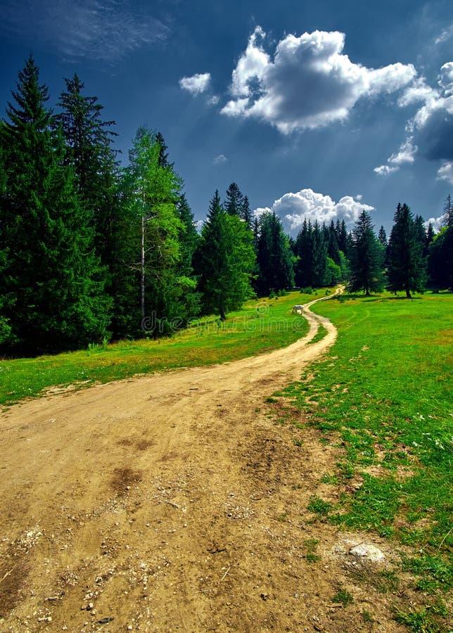 krasnodar山区域路俄国 免版税库存照片
