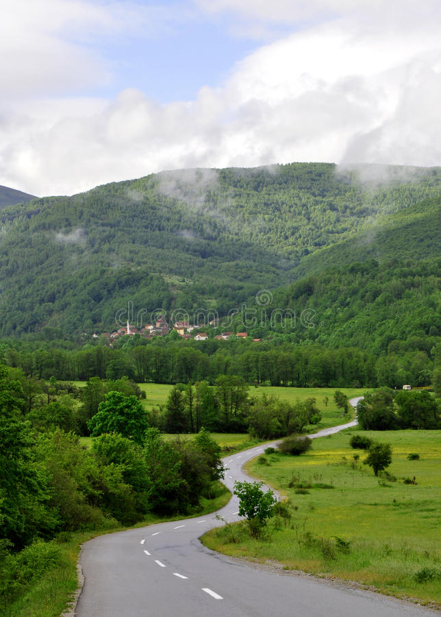 krasnodar δρόμος Ρωσία περιοχών βουνών στοκ φωτογραφία