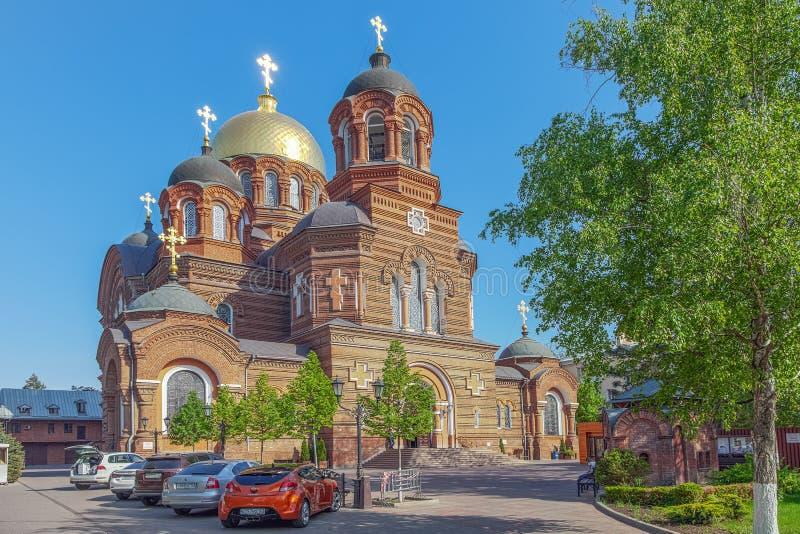 KRASNODAR, RÚSSIA - 2 DE MAIO DE 2017: Catedral do ` s do St Catherine fotos de stock royalty free