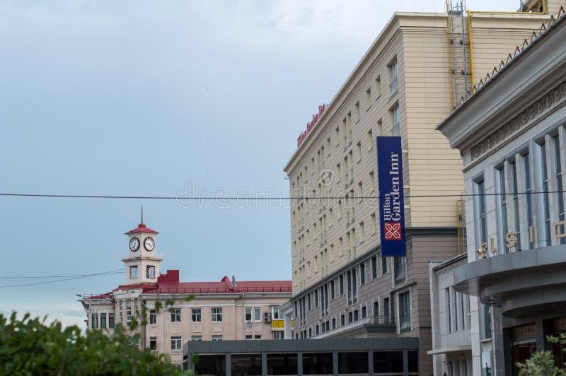 Krasnodar, região de Krasnodar, Rússia, 06 18 2018 A construção de foto de stock