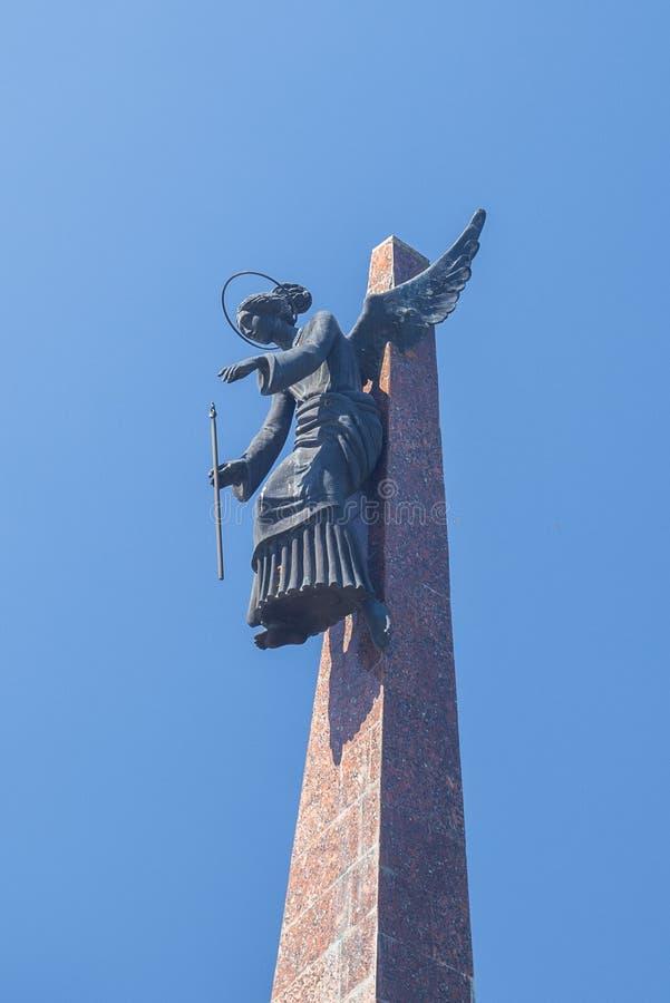 KRASNODAR ROSJA, MAJ, - 5, 2019: Pomnikowi Kuban synowie Zabijać w Afganistan w mieście parkują Chistyakovskaya gaj fotografia stock