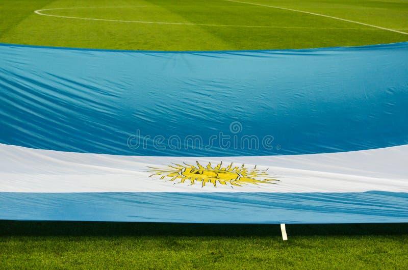 KRASNODAR, RUSIA - 14 de noviembre de 2017: Bandera de la Argentina en imagen de archivo libre de regalías